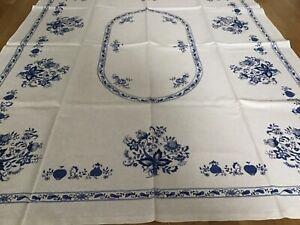 Tischdecke  Zwiebel Muster  Motive blau/weiß 134 x103 cm