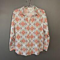 Anthropologie Eden & Olivia Indian Boho Popover Long Sleeve Cotton Blouse Size L
