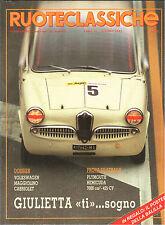 RUOTECLASSICHE 52 N. 6 1992  GIULIETTA TI, LANCIA BETA COUPE, POSTER FIAT 508
