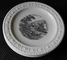 """4 - Wedgewood 9"""" Plate Black White Transferware  Italian River Water Scene"""