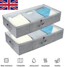 Fabric Underbed Storage Bag Home Storage Bags For Sale Ebay