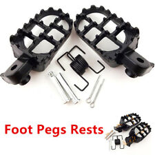 New Wide Fat Foot Pegs Footrest CNC For Honda CR/CRF/XR/50/70/80/100 - Black
