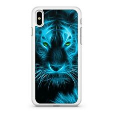 Elegant Green Eyed Blue Lightning Filled Majestic Tiger Animal Phone Case Cover