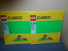 LEGO SET 10700 X2 GREEN BASE PLATE 10x10 INCH (32x32 STUDS) *NEW*