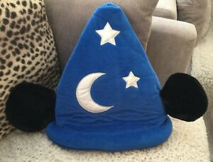 Disneyland Paris Mickey Mouse Ears Sorcerer's Plush Moon & Stars Hat - Pre-loved