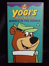 YOGI'S TREASURE HUNT~ BUNGLE IN THE JUNGLE~ YOGI BEAR~ HANNA BARBERA ~VHS VIDEO