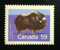 Canada #1174a SP 13.1 MNH, Mammals Musk Ox Definitive Stamp 1989