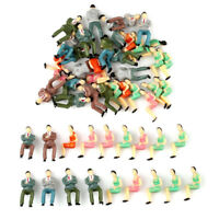 50pcs Painted Model Train Seated People Passengers Seated Figures O Scale 1:50
