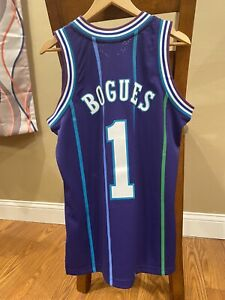 Charlotte Hornets Muggsy Bogues Hardwood Classics Mitchell Ness 94-95 Jersey- M