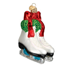"""Holiday Skates"" (44052)X Old World Christmas Glass Ornament w/OWC Box"