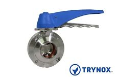 SMS Sanitary Stainless Steel 316L 1 1/2'' Butterfly Valve Trynox