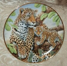 Franklin Mint Climbing Lessons Jaguar Mom & Cub Collector Plate Howard Robinson