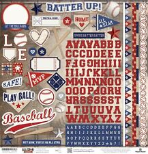 """PAPER HOUSE BASEBALL SPORTS 12""""X12 CARDSTOCK SCRAPBOOK STICKERS"""