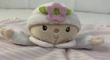 Douglas Baby Baby Doll Plush Lovey Security Blanket Satin Trim Pink and White