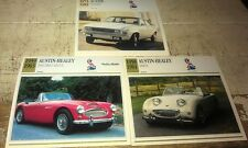 AUSTIN HEALEY & Austin ALLEGRO   Colour Collector Cards x 3 - BUGEYE , 3000