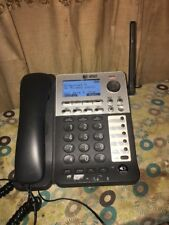 At&T SynJ Sb67148 Dect 6.0 Cordless Phone - Black, Silver - Cordless - 4 X Phone