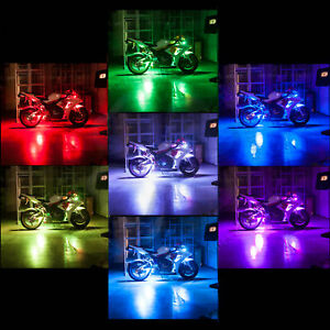Smart Phone Controlled Accent Light RGB Motorcycle iOS Remote LED Lighting Kit
