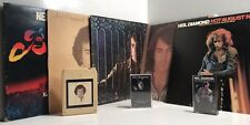 Neil Diamond- Hot August Night-Set Of 5 Record 2 Cassette & One 8-Track VG USED