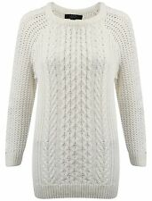 Cotton Crew Neck 3/4 Sleeve Jumpers & Cardigans for Women