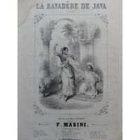 MASINI Francesco the bayadere of Java Singer Piano ca1840 partition sheet music