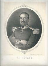1860 GENERALE FOREY litografia 2° Guerra d'Indipendenza Maréchal France Perrin