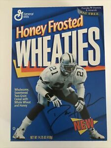 Dallas Cowboys Deion Sanders 1996 Honey Frosted Wheaties Cereal Box Full Unopen