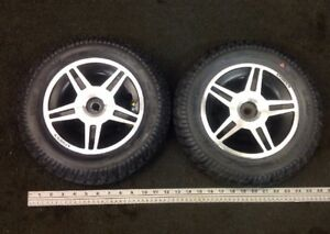 Pair Of Wheels/Tires 3.00-8 Sold Foam Filled Jazzy Select Elite HD  Wheelchair
