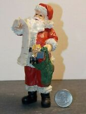 Dollhouse Miniature Christmas Santa Resin Figure 1:12 scale N73 Dollys Gallery