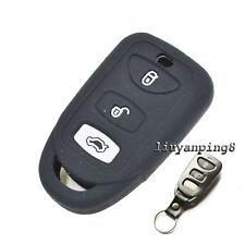 3 Buttons Silicone Skin Cover Remote Key Case Holder For Hyundai Kia Sorento