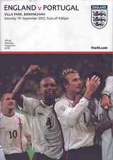 England v Portugal Official Matchday Programme - Saturday 7th September 2002