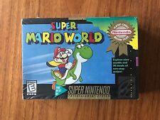 Super Mario World (Super Nintendo SNES, 1992) CIB Brand New Sealed H-Seam