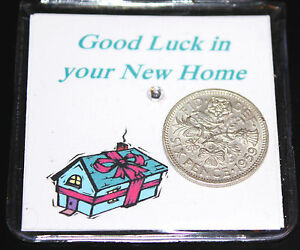 LUCKY SIXPENCE COIN NEW HOME KEEPSAKE FOR GOOD LUCK MOVING