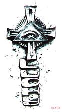 Cross Eye Egyptian Halloween Wrists Temporary Fake Tattoo Transfer Sticker