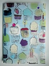 "PAPER MAGIC ~ EMBELLISHED ""HAPPY BIRTHDAY"" CUPCAKES GREETING CARD + ENVELOPE"