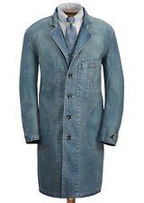 RRL Ralph Lauren Limited Edition Japanese Indigo Cotton Shop Coat Jacket- XXL