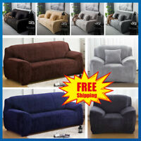 EASY STRETCH ELASTIC FIT FABRIC SOFA / SETTEE SLIP COVER PROTECT- 1/2/3/4 Seater