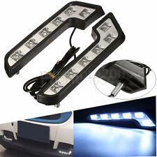 2pcs 6 LED Bright L Shape Car DRL Daytime Running Light Driving Fog Head Lamp