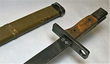 Late WW2 Type 30 Japanese TALW Variation T Bayonet w/ Wood Scabbard / Last Ditch