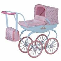 HTI Toys Baby Annabell Carriage Pram | Childrens Baby Doll Pushchair Great Gift