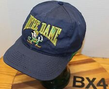 c9e451214c0 VINTAGE NOTRE DAME FIGHTING IRISH HAT BLUE SNAPBACK EMBROIDERED USA MADE BX4