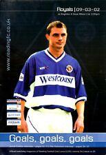 Reading v Brighton & Hove Albion programme, 2nd Division, October 2000