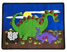 Dino 4' x 6' children's educational and play area rug
