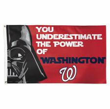 Washington Nationals Star Wars Darth Vader 3'X5' Flag Banner Mlb Licensed