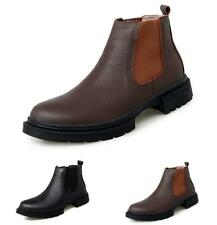 Winter Mens Chelsea Ankle Boots Shoes Pull on Fur Inside Warm Non-slip Walking L