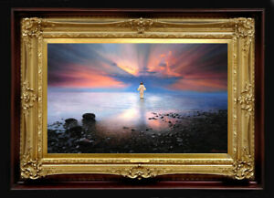 "Oil Painting PRINTED on Canvas Artwork ~ JESUS CHRIST 32"" X 20"" NO FRAME Artist"