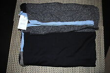 OLIMPIA MENS DESIGNER 100% WOOL SCARF COLOR GRAY/NAVY BLUE RP $135.00 NWT