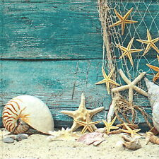 20x Lunch Paper Napkins Serviettes Party, Decoupage - Starfish