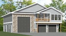 44x48 Apartment with 2-Car 1-RV Garage - PDF FloorPlan - 1,645 sqft - Model 5U