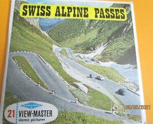 VINTAGE 1960s VIEW-MASTER REELS SWISS ALPINE PASSES