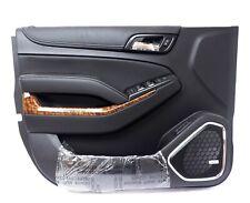 2015-2018 Chevrolet Tahoe Front Left LH Driver Side Door Panel Jet Black Leather